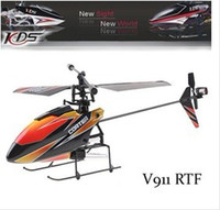 Wholesale Blade Lcd - 2.4G 4CH Single Blade Gyro RC MINI Helicopter With LCD 2 Batteries Outdoor V911 model