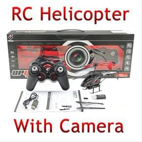 Hot Sale ! WL S977 3.5 CH Radio Control Metal Gyro Rc Helicopter With Camera ( Black)