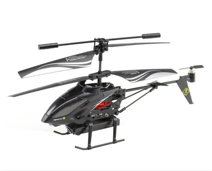 Cadeaux de Noël WL S977 3.5 CH hélicoptère gyroscope RC avec télécommande radio en métal avec caméra noir