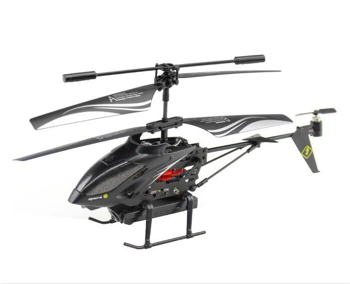 Christmas Gifts WL S977 3.5 CH Radio Control Metal Gyro Rc Helicopter With Camera  Black