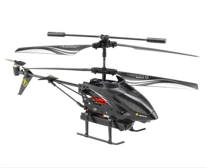 Hot Sale ! WL S977 3.5 CH Radio Control Metal Gyro Rc Helicopter With Camera  Black