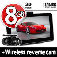 "Wholesale Reverse Camera Wireless System - 7"" Car GPS navigation system HD + Wireless Reverse Camera + 8GB+2012 newest 3D MAPS+2 YEARS WARRANTY"