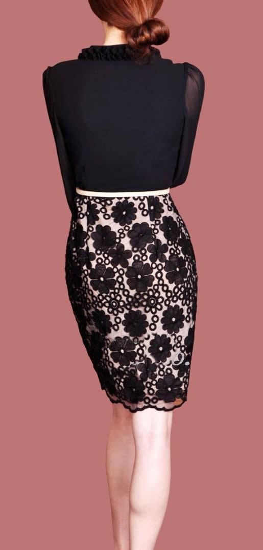 V-neck långärmad klänning mode kvinnor klänning m l xl xxl storlek
