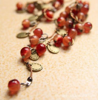 Wholesale Vintage Glass Beaded Necklaces - Fashion Jewelry Thai style Fashion Vintage Sweet Cherry necklace jewelry,Free shipping