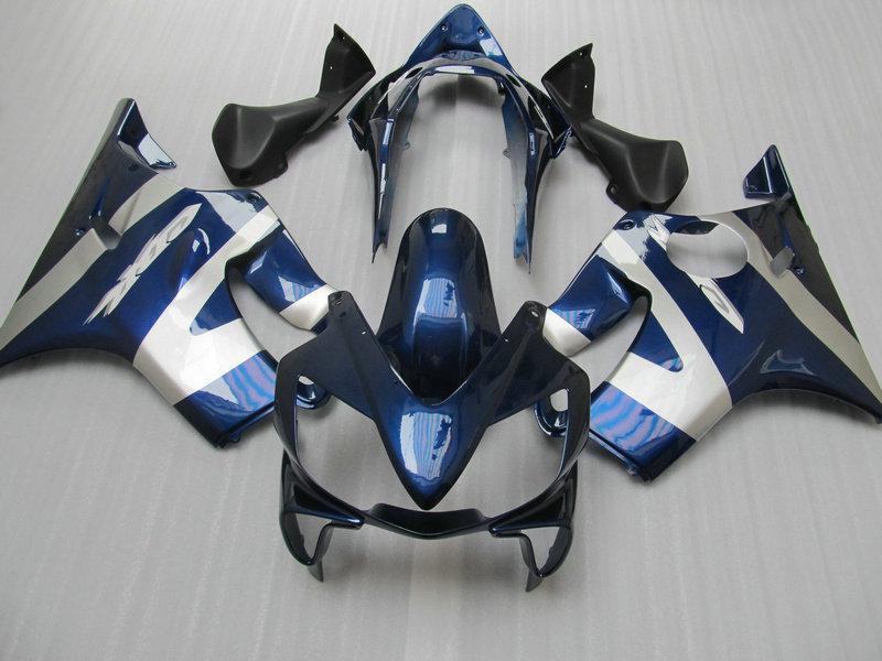 Carenado azul ABS Silve para HONDA CBR600F4i 04 05 06 07 CBR 600 F4I CBR600 F4i 2004 2005 2006 2007