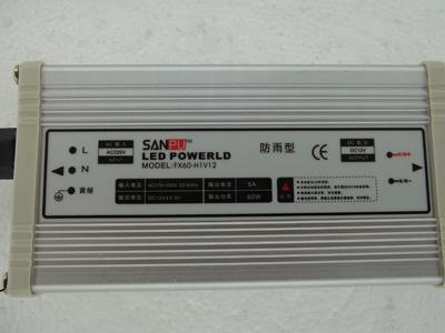 12v o 24V con salida CE 60W led Switch Power, fuente de alimentación LED Rainproof, 110-220VAC, uso para tira led, SANPU