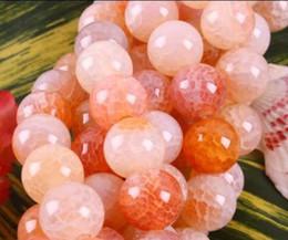 Wholesale Orange Beads 6mm - AAA 6mm,8mm,10mm Orange gradient Dragon Veins Agate Round gemstone Loose beads