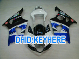K3 online-S06 personalizza le carenature EIF blu nero per Suzuki GSX R1000 2003 2004 K3 GSXR1000 03 04 Carenatura ABS