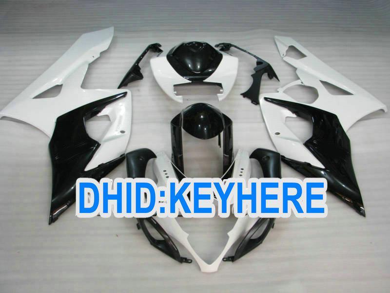 S12 ABS personnaliser kit de carénage blanc noir pour Suzuki GSX-R1000 2005 2006 K5 GSXR1000 05 06 carénage
