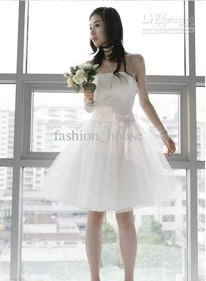2012 hot sale Bridesmaids skirt bride wedding dress white short Bridesmaid Dress dress