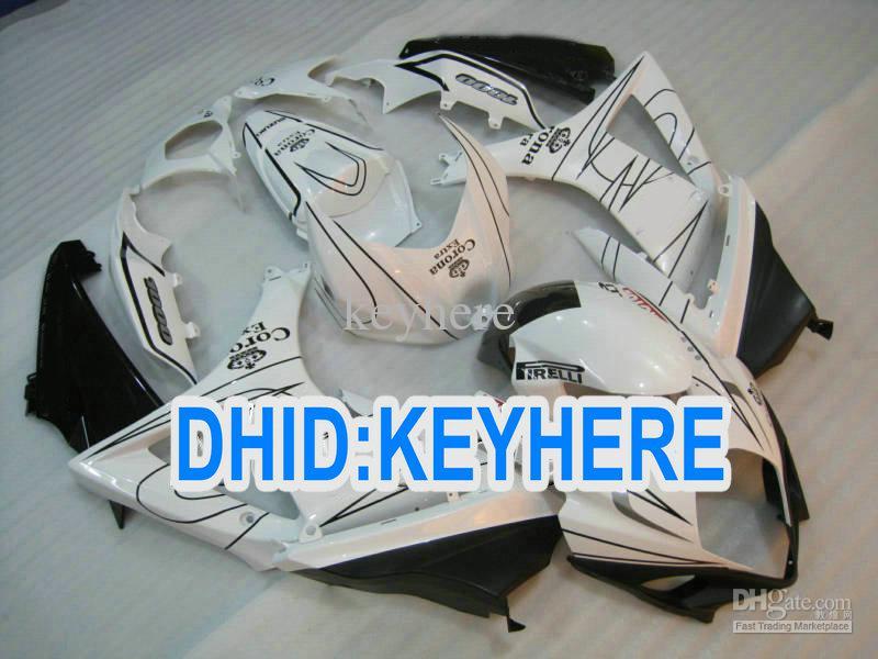S64 kit de carénage de moto ABS corona blanc pour Suzuki 2007 2008 GSX R1000 K7 07-08 GSX-R1000 07 08