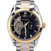Wholesale Jelly Watches Designer Brands - china fashion watch mens mechanical stainless jelly designer brands men watches sun moon star wilon