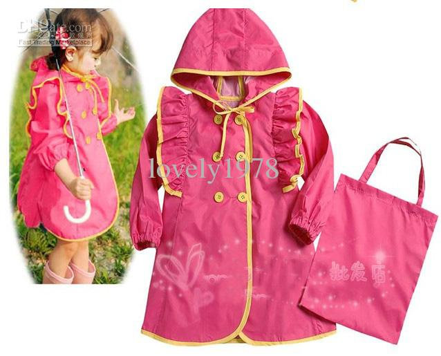 New Samgami Girls Raincoats Girl's Hooded Raincoats Optional Size ...