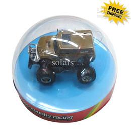 Venta al por mayor de Semicírculo Diseño de Novedad Control Remoto Coche RC Mini Racing modelo de coche juguetes 10 unids / lote