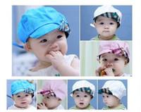boné do newsboy da criança venda por atacado-5 pçslote 2012 Nova Moda Bebê Chapéus de Sol Estilo Coreano Jornaleiro Cap Bebê boinas Crianças cap