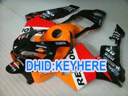 Race Honda Canada - H01Injection fullset orange repsol racing Fairing kit for Honda CBR600RR 2003 2004 CBR 600RR 03 04