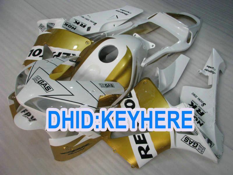 H02 Inyección oro blanco ABS repsol racing Kit carenado para Honda CBR600RR 2003 2004 CBR 600RR 03 04