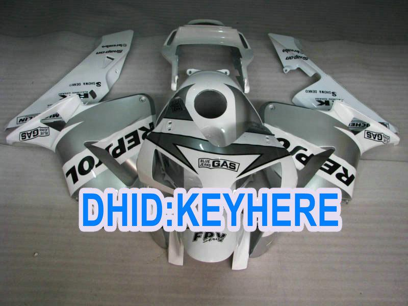 H17 사출 용 화이트 애프터 마켓 ABS 혼다 용 페어링 키트 2003 2004 CBR600RR 03 04 CBR 600RR