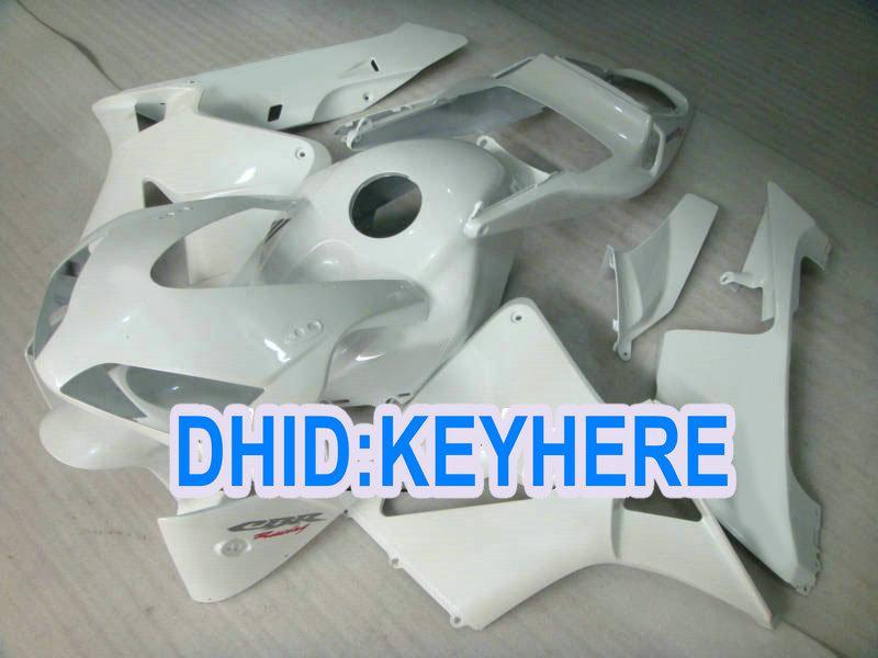 H18注射すべての白いアフターマーケットのABSフェアリングキット2003年2004 CBR600RR 03 04 CBR 600RR
