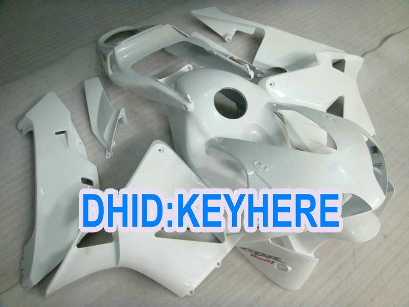 Injeção H18 todo o kit de acabamento ABS para aftermarket branco da Honda 2003 2004 CBR600RR 03 04 CBR 600RR