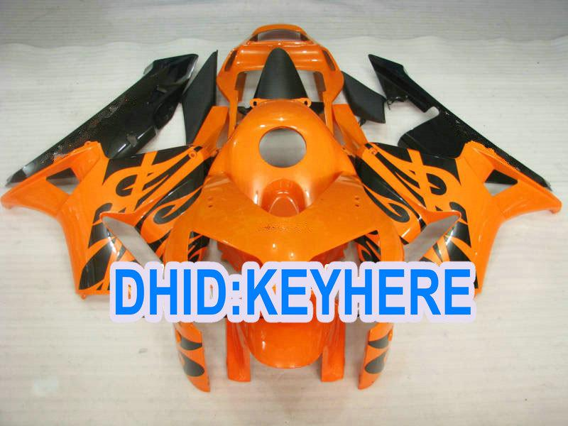 H23는 혼다 2003 2004 CBR600RR 03 04 CBR 600RR를위한 주입 주황색 아 BS 경주 페어링 장비를 주문을 받아서 만듭니다