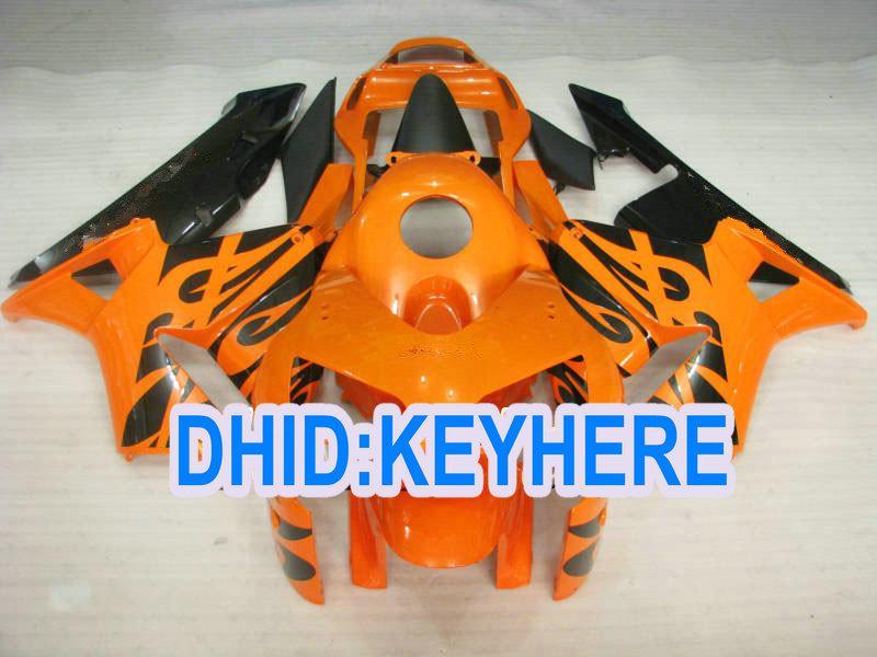 H23 fertigen Einspritzungsorange-ABS-Rennverkleidungsinstallationssatz für Honda 2003 2004 CBR600RR 03 04 CBR 600RR besonders an