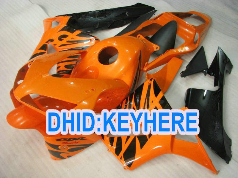 H23 Anpassa injektion Orange ABS Racing Fairing Kit för Honda 2003 2004 CBR600RR 03 04 CBR 600RR