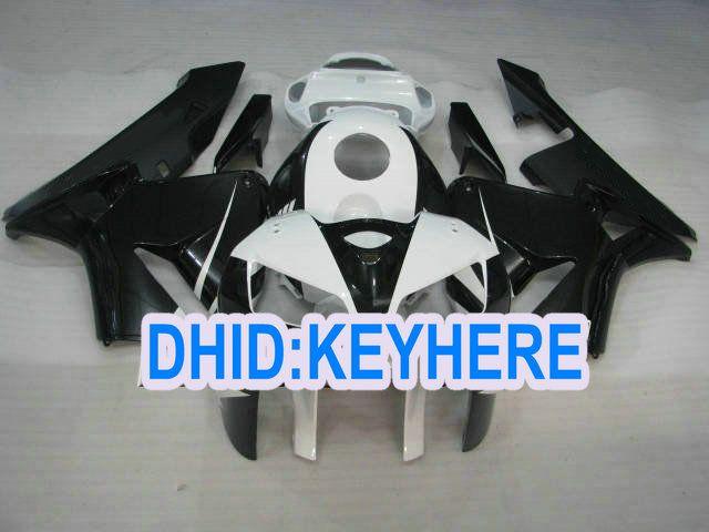 H26 customize cheap Einspritzung schwarz weiß Verkleidung kit für Honda 2005 2006 CBR600RR 05 06 CBR 600RR