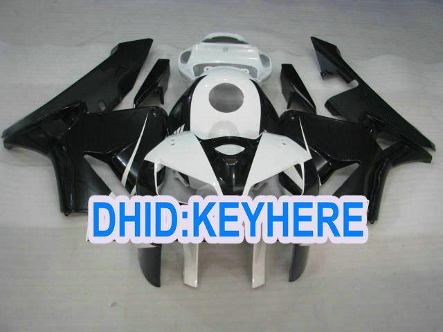 H26 Personaliseer goedkope Injectie Zwart Wit Fairing Kit voor HONDA 2005 2006 CBR600RR 05 06 CBR 600RR
