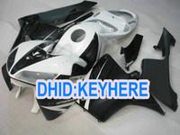Wholesale Cheap Cbr Fairings - H26 customize cheap Injection black white Fairing kit for Honda 2005 2006 CBR600RR 05 06 CBR 600RR