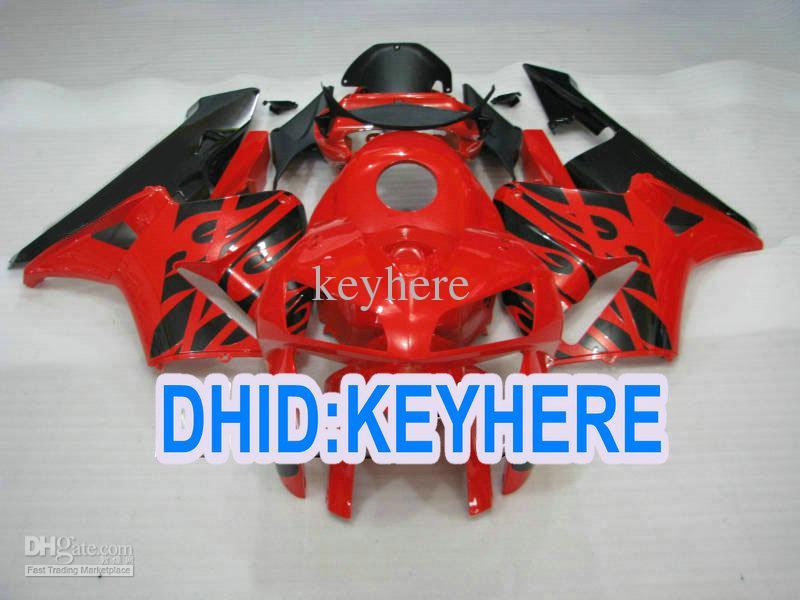 Injeção barato H33 vermelho ABS preto Kit de Carenagem para Honda CBR600RR 2005 2006 CBR 600RR 05 06 2 presentes