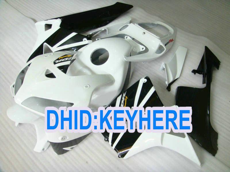 H36注射ホワイトブラックレースABSフェアリングキットCBR600RR 2005 2006 CBR 600RR 05 06 06 2ギフト