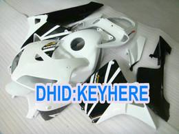 Race Honda Canada - H36 Injection white black race ABS Fairing kit for Honda CBR600RR 2005 2006 CBR 600RR 05 06 2 gifts