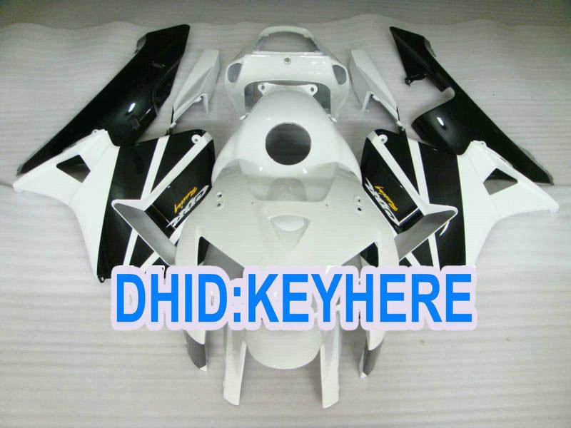 H36 Injection White Black Race ABS Fairing Kit för Honda CBR600RR 2005 2006 CBR 600RR 05 06 2 Presenter