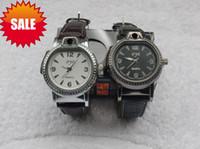 reloj de gas butano recargable al por mayor-2 en 1 reloj de pulsera de cuero con recargable gas butano encendedor correa de cuero Cigarette relojes