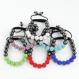 Wholesale Shambala Disco Beads - bracelet shambala friendship bracelets macrame disco ball bead shamballa bracelets fashion bracelet