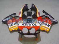 Wholesale Cbr Mc19 - REPSOL body FOR Honda CBR250RR MC19 1987 1989 CBR 250 RR 87 88 89 CBR250 fairing kit &windscreen
