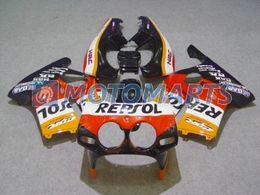 Wholesale Honda Mc19 Fairing - REPSOL body FOR Honda CBR250RR MC19 1987 1989 CBR 250 RR 87 88 89 CBR250 fairing kit &windscreen