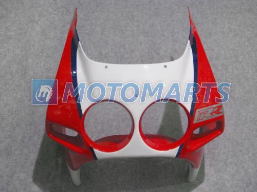 Red White Fairing Kit för Honda CBR250RR MC19 1987 1988 1989 CBR 250 RR 87 88 89 CBR250 vindruta