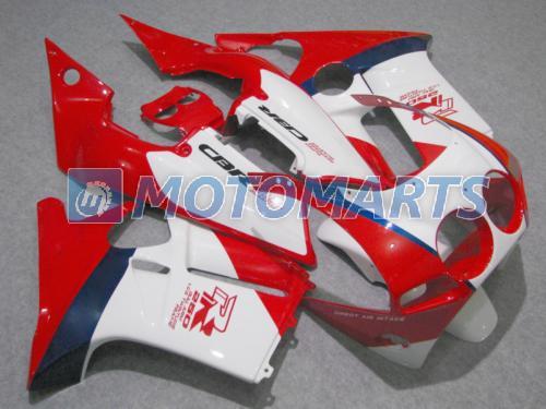 kit de carénage blanc rouge POUR Honda CBR250RR MC19 1987 1988 1989 CBR 250 RR 87 88 89 pare-brise CBR250