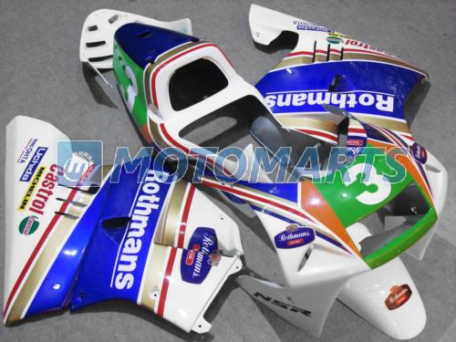 Bundle For Honda NSR250R MC21 PGM3 90 91 92 93 NSR 250R MC 21 rothmans Body Kit Fairing & Windscreen