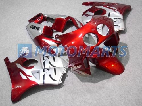 kit carenatura rosso / sil per Honda CBR250RR MC22 1990-1994 CBR 250RR CBR250 90 91 92 93 94 parabrezza