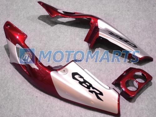 Röd / Sil Fairing Kit för Honda CBR250RR MC22 1990-1994 CBR 250RR CBR250 90 91 92 93 94 Vindruta