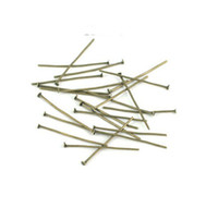 Wholesale Eye Pins For Jewelry - 20-40mm copper plating Eye Pins Earring Accessary Jewelry Fittings Fit For Necklace&Earring