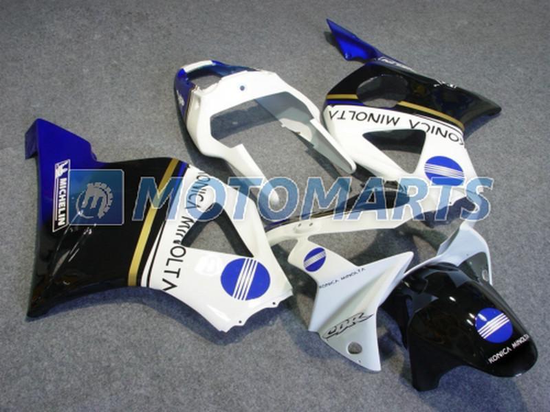 Personnaliser gratuitement la carrosserie blanche bleue pour Honda CBR900RR 954 2002 2003 CBR 954RR CBR954 RR CBR900 CBR954RR kit carénage RX1