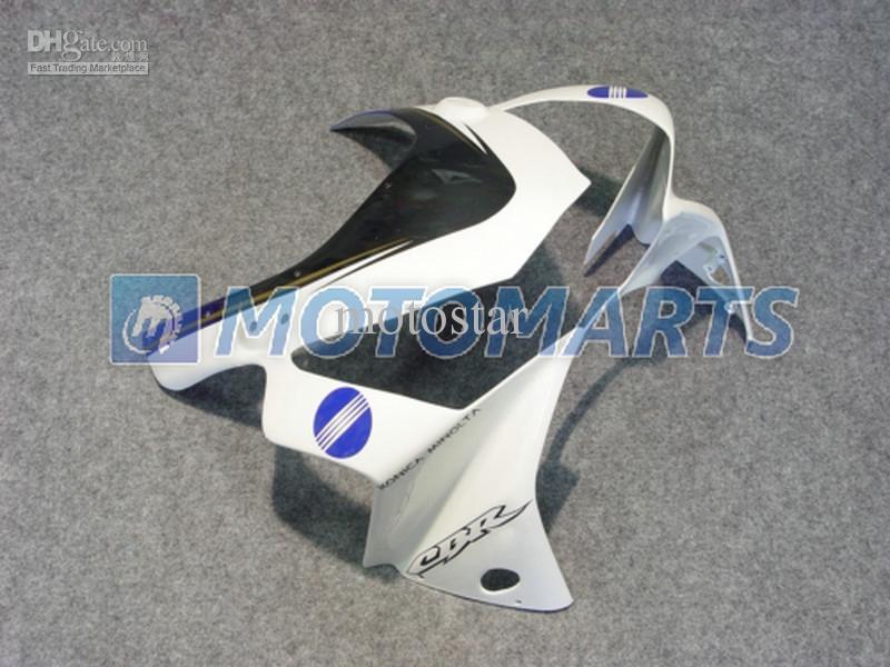 Gratis Customize White Blue Carrosserie voor Honda CBR900RR 954 2002 2003 CBR 954RR CBR954 RR CBR900 CBR954RR Fairing Kit RX1