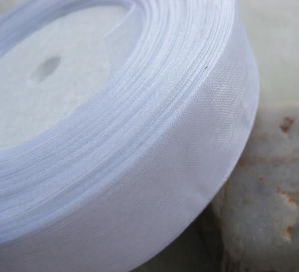 20 milímetros de organza fita cor branca nupcial decoração borda presente jóias 1 rolo 50yds