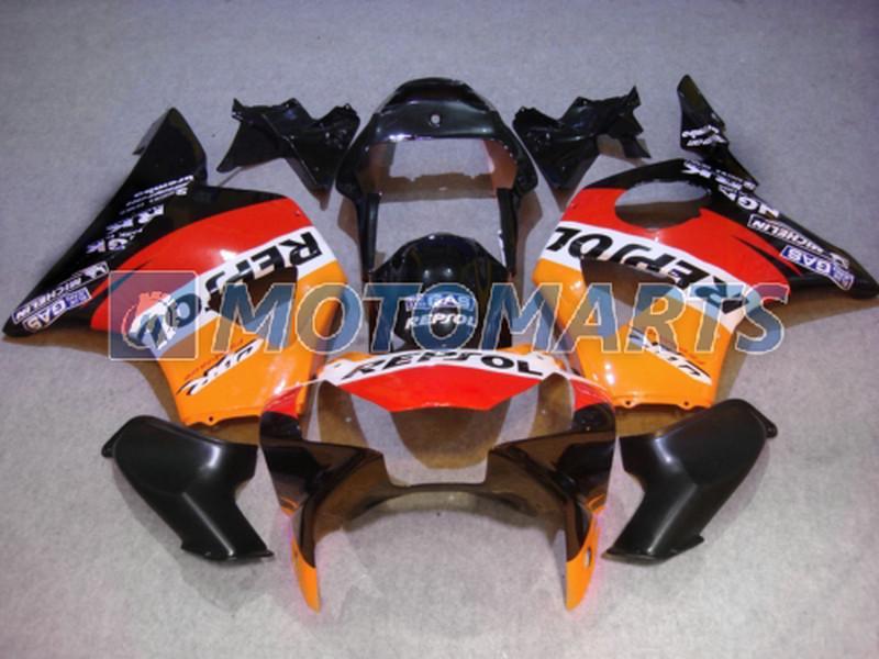 Personnalisez gratuitement le kit de carénage REPSOL orange pour Honda CBR900RR 954 2002 2003 CBR 954RR CBR954 RR kit de carénage CBR900 CBR954RR