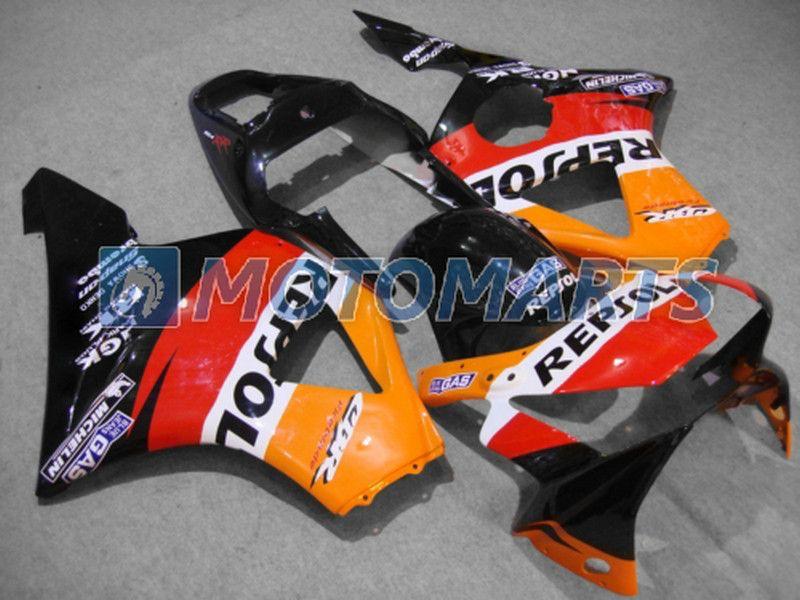 Grátis Personalizar orange REPSOL carenagens kit Para Honda CBR900RR 954 2002 2003 CBR 954RR CBR954 RR CBR900 CBR954RR carenagem kit