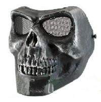 Wholesale Cacique Mask - Hotsale CACIQUE Skull Full Face Mask Silverish Black